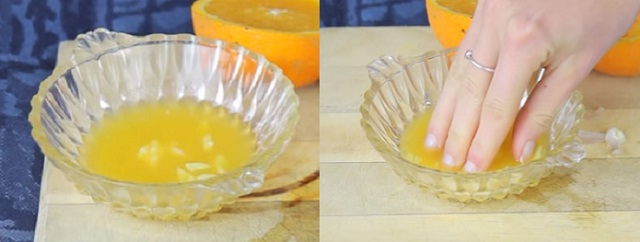 nail growth Using Orange Juice